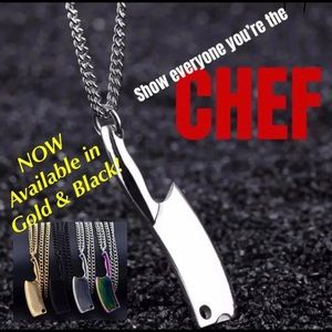 Jewelry - CHEFS-THIS BUTCHER KNIFE NECKLACE IS 4 U